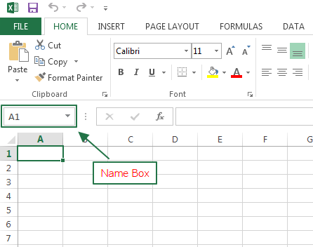 name box excel